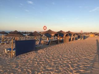 Plaża, widok, piasek, skały