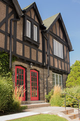 House with Tudor Revival Detailing