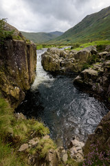 Small waterfall in the Cumbrian mountains England
