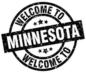 welcome to Minnesota black stamp