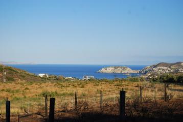 widok na morze i pole