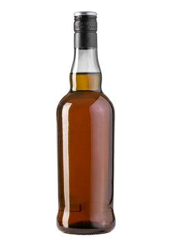 whiskey bottle isolated on white