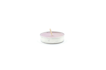 Candle, decoration element on a white background