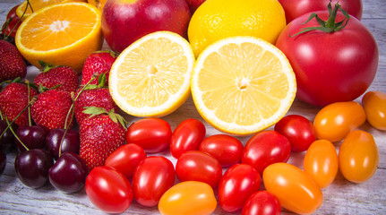 Healthy food - food products with a high content of vitamin c.
