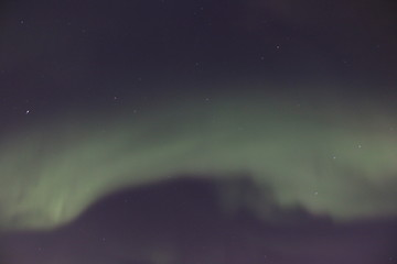 Northern Lights sky with stars