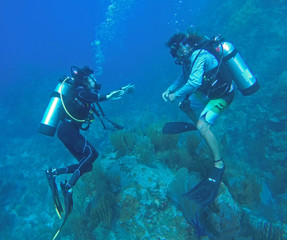 Two scuba divers in BVI