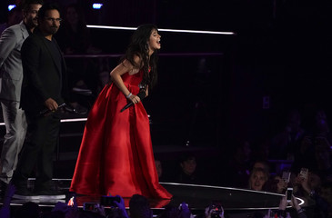 Singer Camila Cabello receives the Best Artist award during the 2018 MTV Europe Music Awards at Bilbao Exhibition Centre in Bilbao