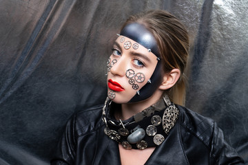 woman steam punk face