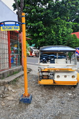 Colorist tricycle stationed at Seaplane 1 road. Puerto Princesa-Palawan-Philippines-0748
