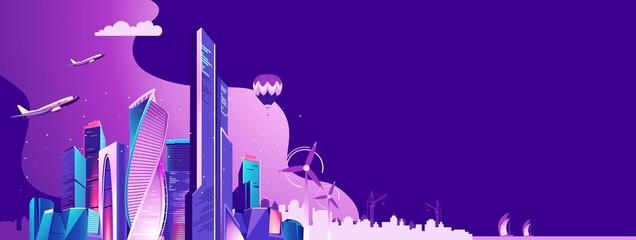 City landscape concept