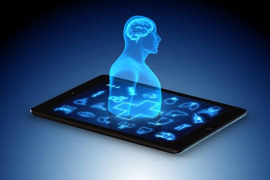 Artificial intelligence concept in telemedicine