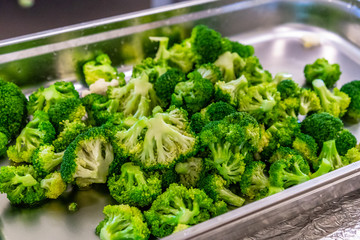 Prepared Broccoli in Plastic Container fof Wedding Meal