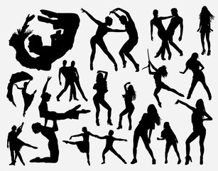 Extreme dance silhouette for symbol, logo, web icon, mascot, game elements, mascot, sign, sticker design, or any design you want. Easy to use.