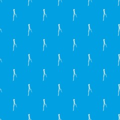 Surgical pliers pattern vector seamless blue repeat for any use
