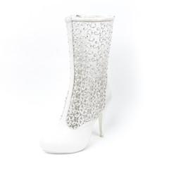 Women's wedding shoe on white background