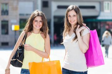 Friends shopping together