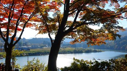 只見川・秋の福満虚空蔵尊円蔵寺(福島県・柳津町)