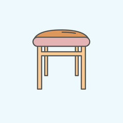 Baby chair icon on white background
