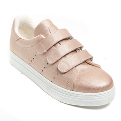 Women's demi-season shoes leather on white background