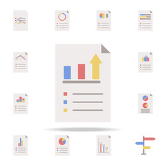 business charts icon. charts icons universal set for web and mobile