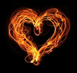 fire heart illustration