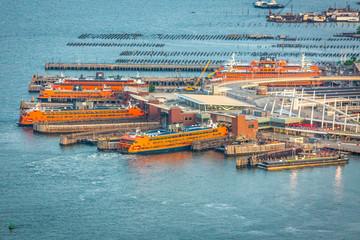 New York, NY / USA - August 7, 2018: Staten Island Ferry Pier