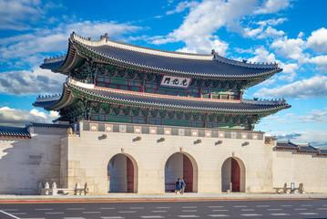 Fotobehang Seoel Gwanghwamun, main gate of Gyeongbokgung Palace