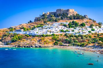 Lindos, Acropolis in Rhodes, Greece