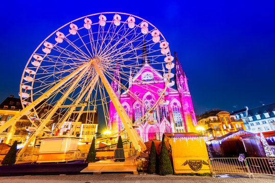 Mulhouse, Alsace, France - Marche de Noel