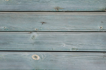 Wooden background of blue horizontal boards