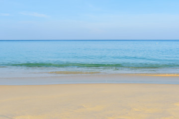Surin Beach with blue sky, Phuket in Thailand