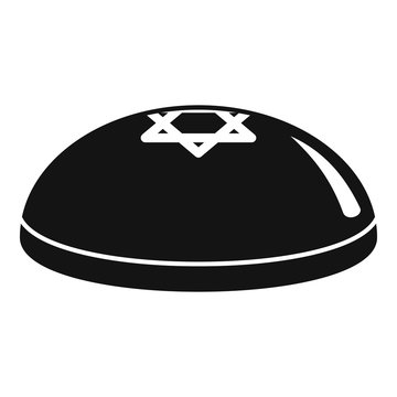 Kippah icon. Simple illustration of kippah vector icon for web design isolated on white background