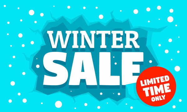 Winter special sale concept banner. Flat illustration of winter special sale vector concept banner for web design