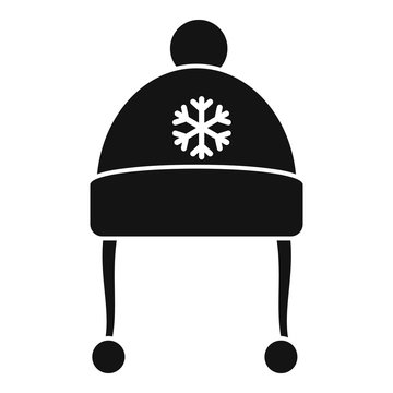 Red winter hat icon. Simple illustration of red winter hat vector icon for web design isolated on white background