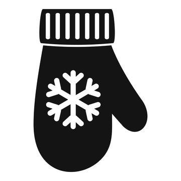 Winter glove icon. Simple illustration of winter glove vector icon for web design isolated on white background