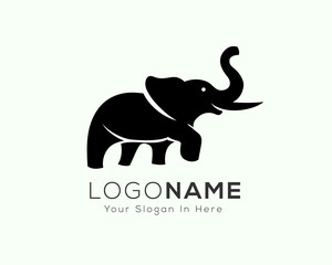 standing elephant logo, icon, symbol design inspiration with confidence