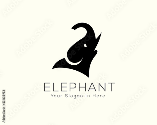 19c13eafd655 simple head elephant logo