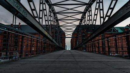 schöne Brücke in der Speicherstadt