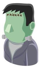 A Monster man avatar cartoon person icon emoji