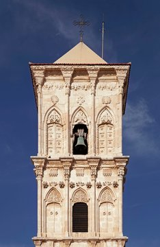 Bell tower, Greek Orthodox Lazarus Church, Agios Lazaros, Larnaka, Southern Cyprus, Cyprus, Europe