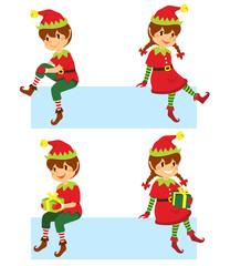 Set of cartoon children and Hanukkah symbols