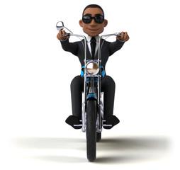 Fun businessman - 3D Illustration