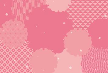 雪輪の和柄の背景素材(はがきサイズ)
