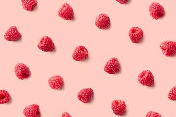 Colorful pattern of raspberries
