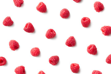 Pattern of fresh raspberries
