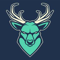 Deer Mascot Vector Icon