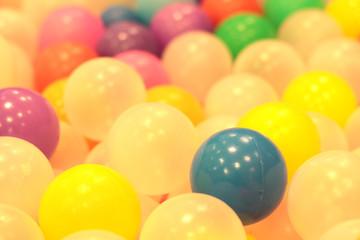 colorful balls children , funny kindergarten plastic ball pond .