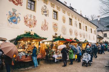 Gmunden Schloss Ort or Schloss Orth Christmas Market inside the Castle