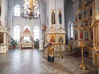 Interior. Orthodox Church. Russia, Ural, Perm region
