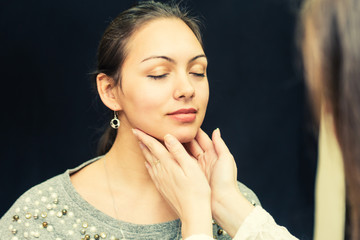 Thyroid exam.